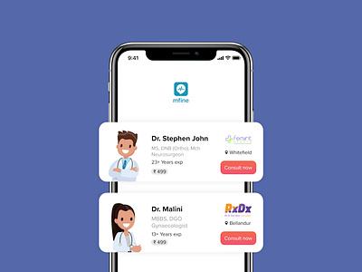 mfine healthcare iphone iphone app app design app ux uid healthcare