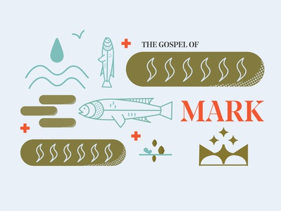 The Gospel of Mark grid mark sermon graphic crown cross gospel bible sermon series sermon art sermon bible study church
