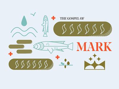 The Gospel of Mark grid mark sermon graphic crown cross gospel bible sermon series sermon art sermon bible study church