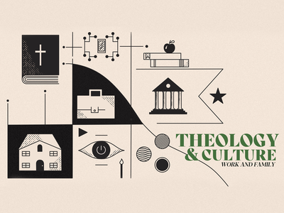 Theology and Culture ethnicity education family home arts and entertainment politics sermon series design sermon art vector logo ministry illustration church bible
