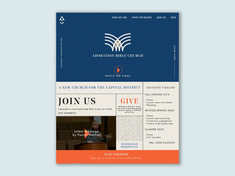 Church Plant Launch Site web bible ministry church branding church design mockup illustrator webflow webdesign website
