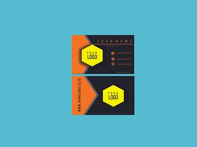 name card graphic design illustration vector flyer logo design