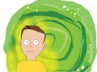 portrait in the style of rick and morty cartoon style design vector illustration cartoon portal avatar style rick and morty portrait