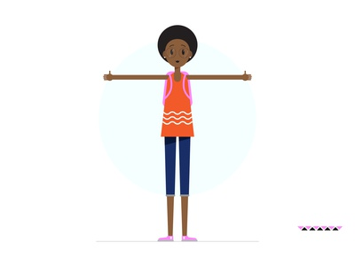 Girl With A Fro Body
