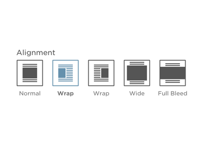 Image Alignment Buttons image alignment cms buttons