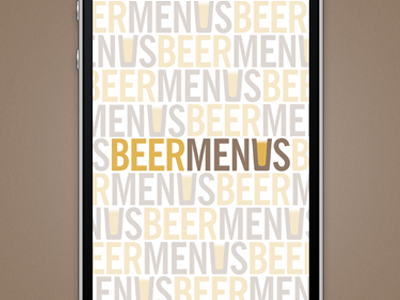 BeerMenus Start Screen start screen mobile beer
