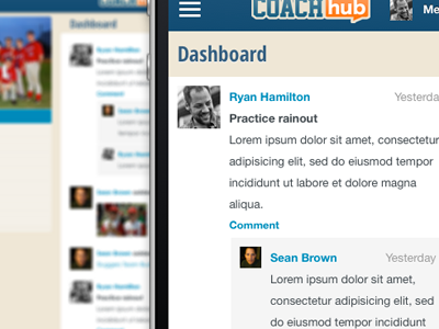 Responsive Layout mobile responsive activity feed