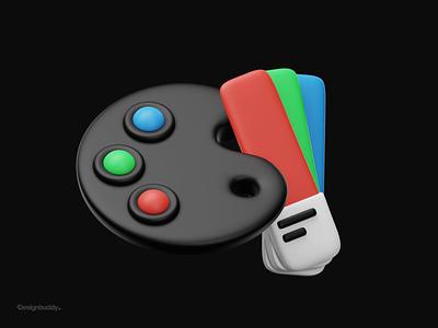 Color palette 3D illustration app ux design gradient pantone colors palette color palette icons icon 3d icon 3d model logo branding flat ui motion graphics 3d illustration animation