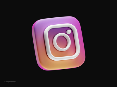 Clayio - set of 3d icons for your iPhone | #6 Instagram blender ios iphone app icon icons 3d animation 3d art 3d iconography icon set logo branding illustration app animation ux ui icon design design icon