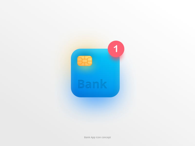 Bank App - Icon Concept animation icon android iphone ios money bank app card ux ui design