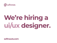 Softnauts is hiring!