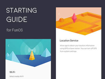 Starting Guide ui guide location wifi illustration