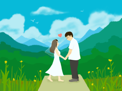 Daocheng lovers illustration