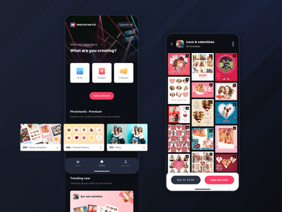 Phototastic Collage Maker App for Android design minimalist clean productdesign dark photo dark theme image editing collage ux ui product design android app appdesign