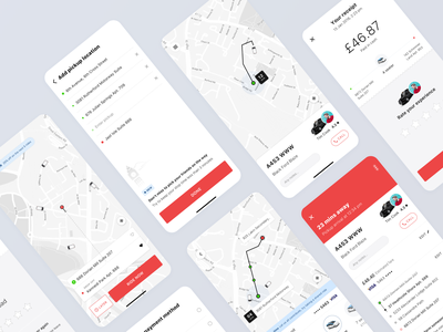 Taxi Booking App - A White Label Solution location taxi booking travel mobile app minimal taxi taxi service app ride sharing app booking app elegant ride cab ride hailing ride sharing clean ux ui product design app design transportation
