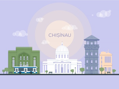 Chisinau, My City vector art flat branding design color chisinau creative inspiration illustration