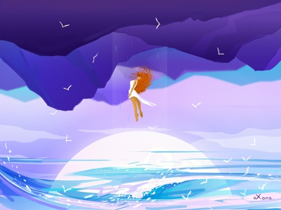 Good night stay home design people character colorful art inspiration creative illustration