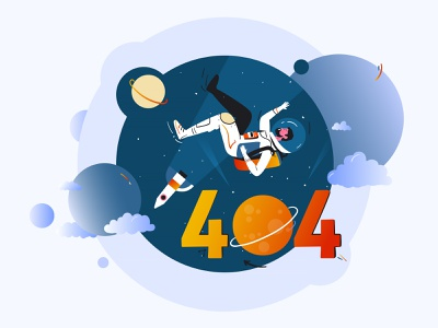 404 line colorful art universe character people design vector inspiration creative illustration