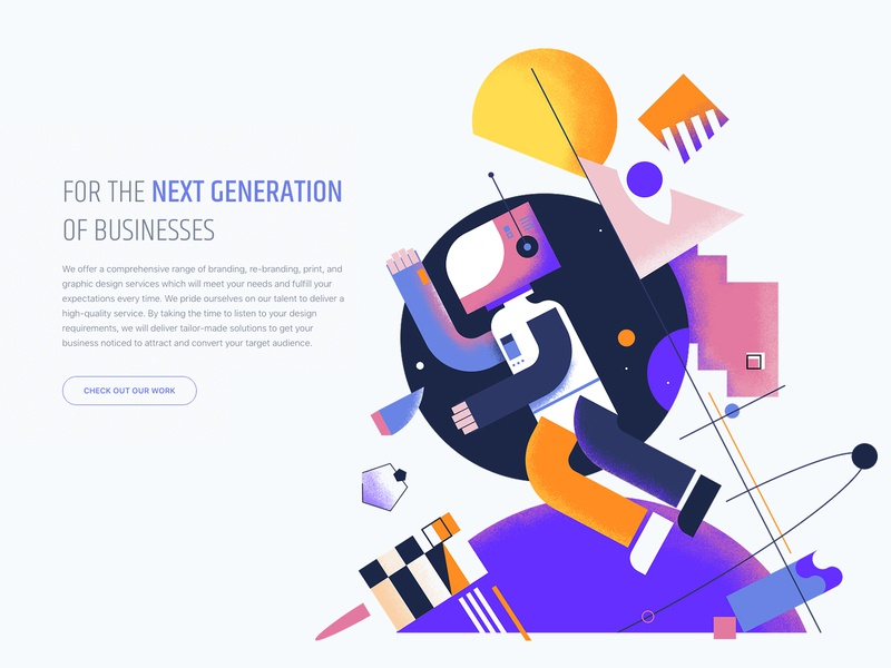 Spaceman coloful line vector concept character future geometic cubism galaxy space astronaut cosmonaut people inspiration design color colorful art creative illustration
