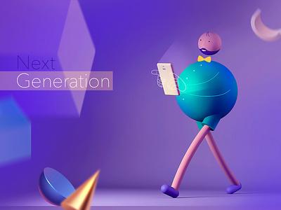 Next Generation character animation character design 3d art 3d people character color colorful design art creative inspiration cinema 4d cinema4d illustration