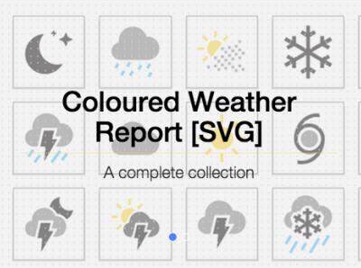 🌈 Rainbow Weather Icons weather apple apple design icons design icons pack icon set iconset design