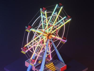 Ferris Wheel b3d glow wheel ferris wheel ferris 3d