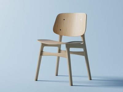 Chair furniture wood wooden blenderguru chair b3d 3d