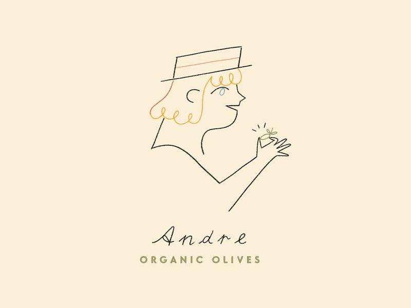 Andre Olives flat  design logo branding illustrator design pastels drawing photoshop digital illustration