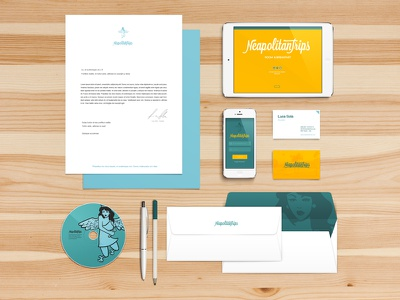 Neapolitantrips - Branding Identity branding hotel bedbreakfast letter logotypo notepad envelope disk business card corporate identity brand