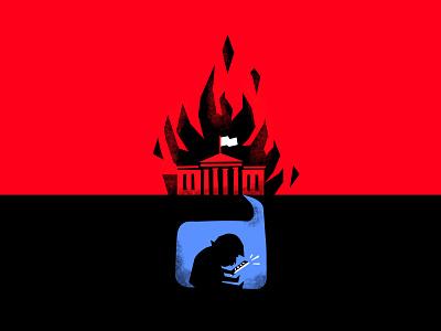Bunker Boy protest illustration blm trump politics america