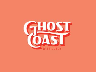 Ghost Coast alcohol distillery liquor lockup color type typography logotype logo branding design