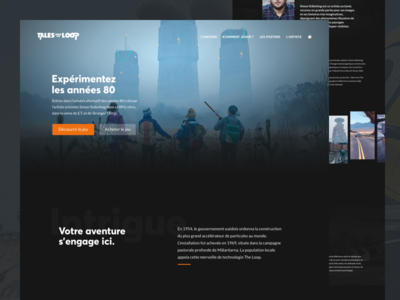 Tales From The Loop - Website design concept
