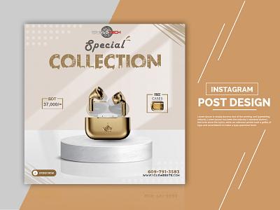 Social Media Post Design appel airpods graphic design branding poster facebook add instagram add pi-salman banner design social media banner