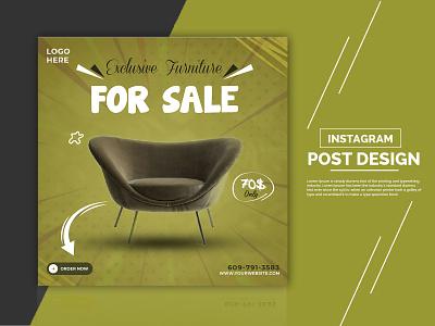 Social Media Post Design chair add chair add poster branding pi-salman facebook add instagram post banner graphic design design social media