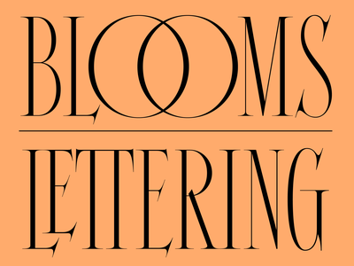 Nolita 01 blooms ligature ligatures graphic design typeface design typeface letters 100 day project design lettering type typography