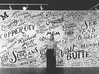 Butte Typographic Map