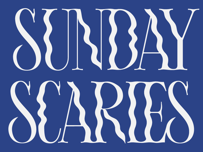Sunday Scaries design type lettering typography