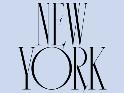 New York high contrast type by tina new york design lettering type typography