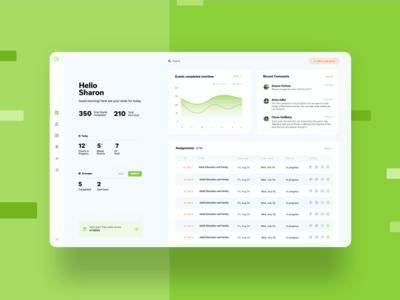 GrantWatch - User Dashboard webplatform graphs stats comments tasks overview uxui ux saas userexperience ui design illustration grants branding b2b app analytics dashboard analytics analytics chart