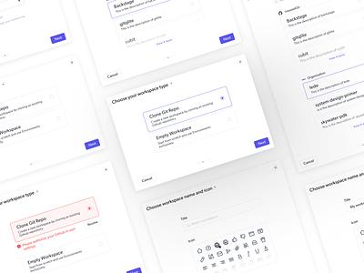 Modal Design ~ Create A New Workspace ~ UI/UX ~  🖥 modern fresh uidesign userflow createnew workflow onboading modal design lightbox modal app web userexperience uiux ux saas b2b clean branding ui
