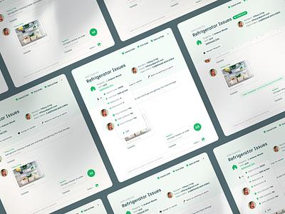 🛠Create A New Work Order Modal // AppRent assign tasks property management property realestate status upload software design system workorders maintenance saas minimal clean comment tailwind chat input lightbox modal