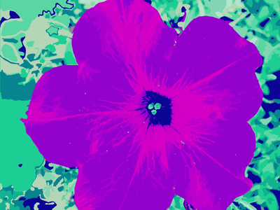 Psychedelic Flower psychedelic teal purple fuchsia
