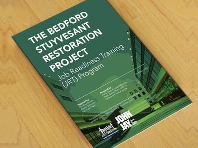 Cover - BedStuy Restoration Project - Evaluation  nyc brooklyn cover layout print design