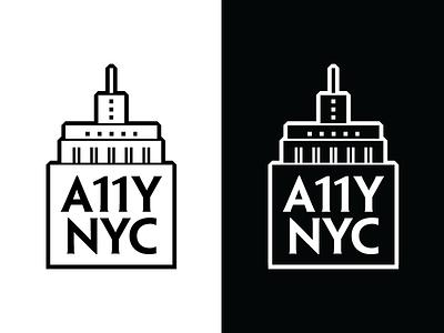 A11Y NYC Logo empire state building nyc art deco design a11y accessibility logo