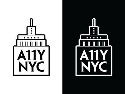 A11Y NYC Logo empire state building nyc art deco design a11y accessibility logo