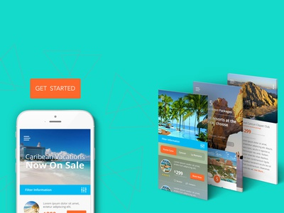 Travel App mobile app design ux travel