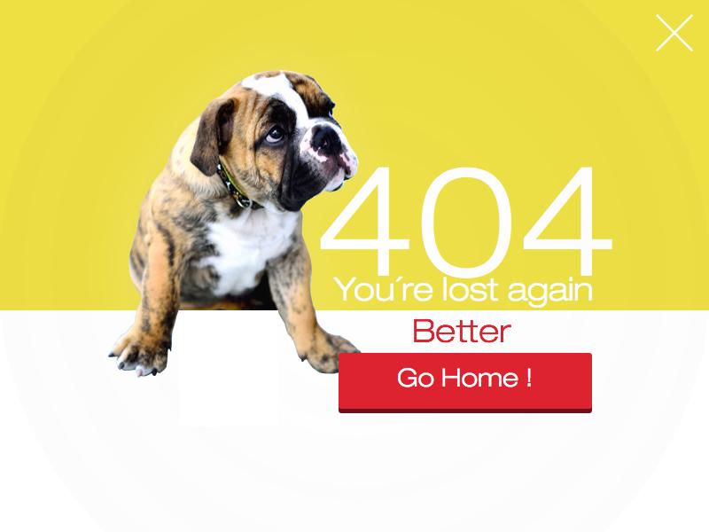 404 Dribbble lost 404 mango bulldog
