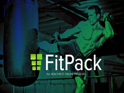 Fitpack Dribbble healthy green logo fitness branding