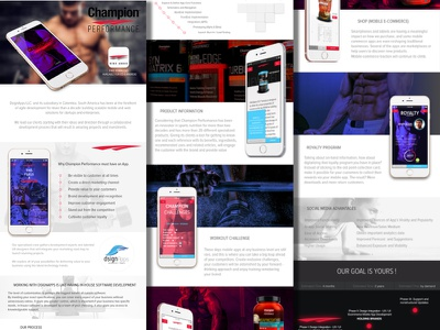 Champion App Proposal ios android supplements app nutrition