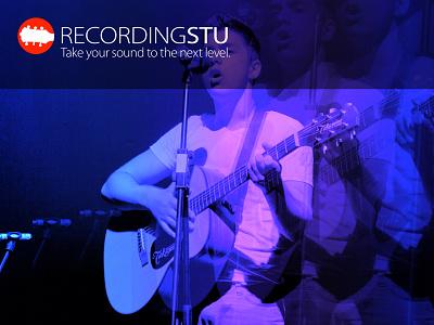 RecordingSTU  record studio sound audio branding logo